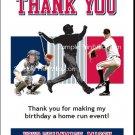 Minnesota Twins Colored Baseball Thank You Cards
