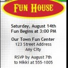 Fun Center Birthday Party Ticket Invitation