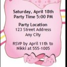 Slumber Party Ticket Invitation