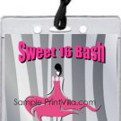 Pink Zebra Pass Invitation