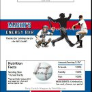 Los Angeles Dodgers Colored Baseball Candy Bar Wrapper