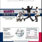 Minnesota Twins Colored Baseball Candy Bar Wrapper