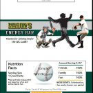 Oakland Athletics Colored Baseball Candy Bar Wrapper