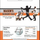 San Francisco Giants Colored Baseball Candy Bar Wrapper