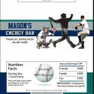 Seattle Mariners Colored Baseball Candy Bar Wrapper