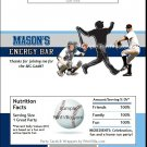 Tampa Bay Rays Colored Baseball Candy Bar Wrapper
