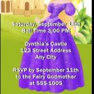 Princess Blonde Birthday Party Ticket Invitation
