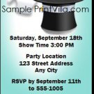 Magic Hat Birthday Party Ticket Invitation