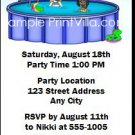 Pool Party Birthday Party Ticket Invitation 2