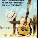 Country Music Star Birthday Party Ticket Invitation