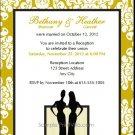 Class Act Lesbian Wedding Reception Card 5x7 Flat