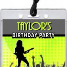 Concert Guitarist Male VIP Pass Party Invitations