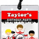 Boy Rock Band Red Backstage Pass Invitations