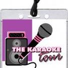 Karaoke Star Purple VIP Pass Invitations
