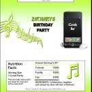 MP3 Player Candy Bar Wrapper