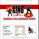 King Rocker Candy Bar Wrapper