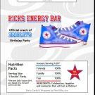 All Star Shoes Candy Bar Wrapper
