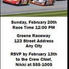 Daytona 500 Party Ticket Invitation Blue