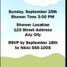 Momma Bird Baby Shower Ticket Invitation
