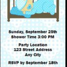 Blue Nursery Baby Shower Ticket Invitation