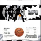 Black Silver Basketball Team Candy Bar Wrappers