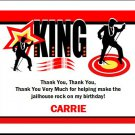 King Rocker Thank You Cards