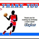 Basketball Red Blue Thank You Cards