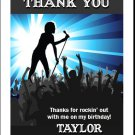 Concert Singer Male Thank You Cards