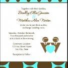 Tiffany Dots Gay Wedding Invitation 5x7 Flat