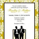 Class Act Gay Wedding Invitation 5x7 Flat