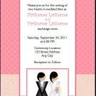 Butch-Femme Brides Lesbian Wedding Invitation 5x7 Flat