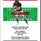 Cincinnati Bearcats Colored Football Field Birthday Party Invitations