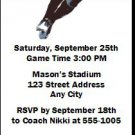 Georgia Bulldogs Colored Football Ticket Invitation