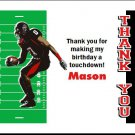 Texas Tech Red Raiders Colored Football Field Thank You Cards