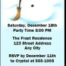 Frosty Holiday Party Ticket Invitation