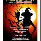 Witch Tree Halloween Party Invitation
