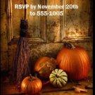 Welcome Door Thanksgiving Ticket Invitation