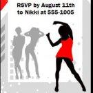 Dancing Bachelorette Party Ticket Invitation