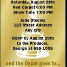 Oscar Awards Golden Bachelor Party Ticket Invitation
