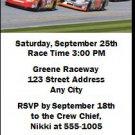 Daytona 500 Bachelor Party Ticket Invitation Blue