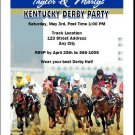 Kentucky Derby They're Off Party Invitations