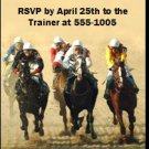 Kentucky Derby The Race Is On Party Ticket Invitations
