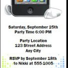 MP3 Player Birthday Party Ticket Invitation