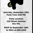 Snowboarding Birthday Party Ticket Invitation
