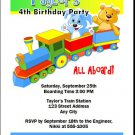 Toy Train Birthday Party Invitation