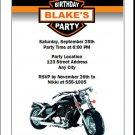 Motorcycle Birthday Party Invitations