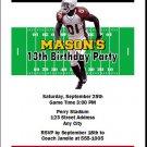 Cardinals Colored Football Birthday Party Invitation