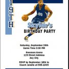 Memphis Grizzlies Colored Basketball Party Invite