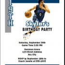 Minnesota Timberwolves Colored Basketball Party Invite