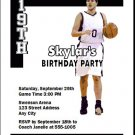 Brooklyn Nets Colored Basketball Party Invitations